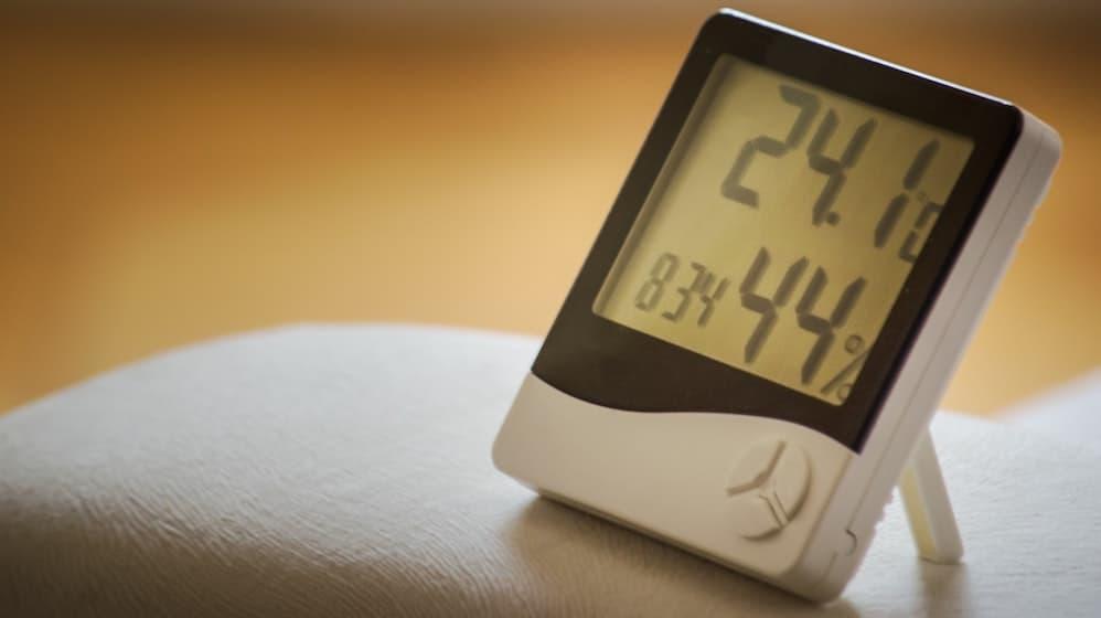 Hygrometer met temperatuur en luchtvochtigheid op display